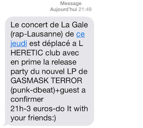SMS LA GALE