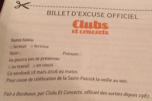 DRINK ST PATRICK BILLET DEXCUSE