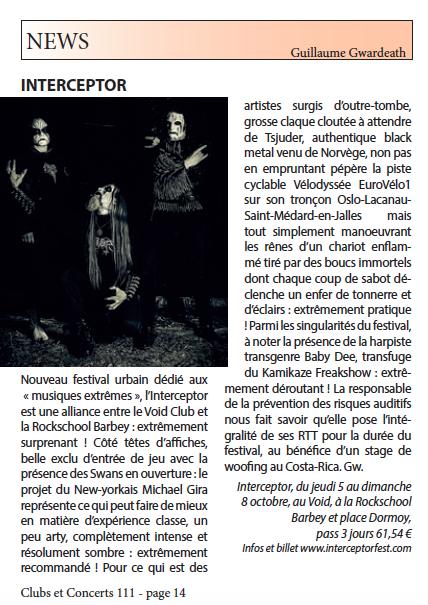 Interceptor Clubs Et Concerts 111 Bordeaux