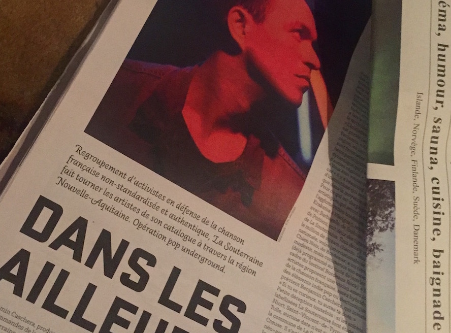 La Souterraine en Nouvelle-Aquitaine, avec Malik Djoudi. Article Junkpage par Guillaume Gwardeath