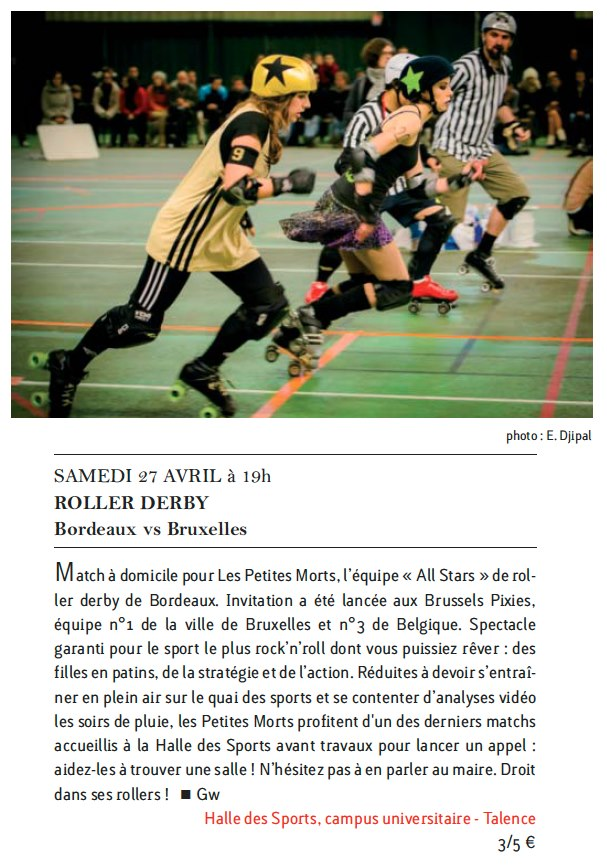Clubs&Concerts n°62-avril-2013-Roller-Derby