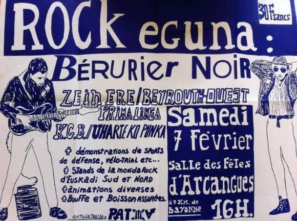 ROCK EGUNA ARCANGUES BERURIER NOIR 1987